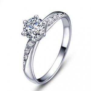 Ring with Zirconia Gemstone